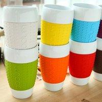 Wholesale Coffee Mug Sleeve - Wholesale Denmark bodum 480ML genuine creative silicone sleeve cups ceramic cup mug coffee mug for good life