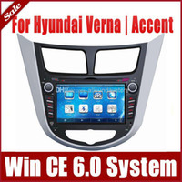 """Wholesale Dvd For Hyundai Accent - 7"""" 2-Din Car DVD Player for Hyundai Verna Accent Solaris 2011-2013 with GPS Navigation Radio TV BT USB SD AUX 3G Auto Multimedia"""