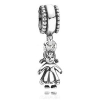 Wholesale Cute Charms For Sale - Hot Sale Cute Mother Love Girl Enamel Pendant Style 925 Sterling Silver European Beads Charm For Snake Chain Bracelets Jewelry