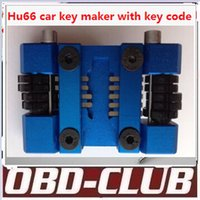 Wholesale Key Code Software - Newest Hu66 + Hon66 locksmith car key maker car key tool machine + code software to do the whole lost key by hand Free ship