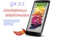 Купить Двойной Sim 512m Ram-5.5-дюймовый QHD-экран G4 Dual Core MTK6572 Android 4.4 3G Smart Mobile Phone Single Sim Unlocked 4GB ROM 512M RAM сотовый телефон
