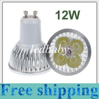 Wholesale Downlights Living Room - 12W GU10 MR16 E27 GU5.3 B22 E14 Led downlights Dimmable Led DownLight Spot Lights Lamps 4x3W Warm Cool Pure White Free Shipping