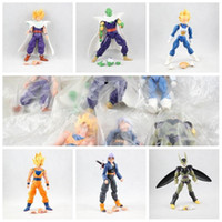 Vente en gros-nouveau 6pcs / lot 15cm Dragonball Z Dragon Ball Anime Goku super saiyan Joint Movable Action Figure Toy Livraison gratuite