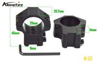 Wholesale Laser Barrels - AloneFire M-03 25mm Ring 11mm rail Tactical flashlight mount Scope Laser Barrel bicycle Flashlight Mount ( 1 pair )