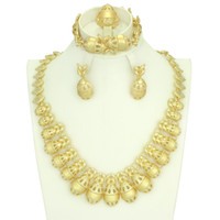 Wholesale wedding products china - Wholesale New Products High Quality 18K Gold Plated Classical Fashion Necklace Jewelry Sets Women Wedding&prom Jewelry Sets