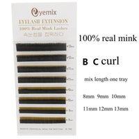 Wholesale Eyelash Extensions Mix - 100% Real Mink Eyelash Extension Mix Length 8-13mm Individual False Eyelash