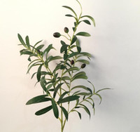 Wholesale Flower Shaped Fruit - about 85cm long The artificial plant six branches of the olive branch with or without fruits suit for home and garden decoration AP005