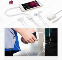 Wholesale Earphone Mm Plug - Wholesale-Jack 3.5 mm to Dual 3.5 mm Cable male to Female Audio cables Splitter adapter two lovers Plug Stereo earphone For iphone samsung