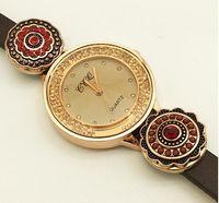 charme für armbänder eine richtung großhandel-Neue Charme Armbänder Armband One Direction Retro Uhr Top Leder Druckknopf Armband (Fit 18mm 20mm Snaps) Tp891, TP890, TP598, TP8536