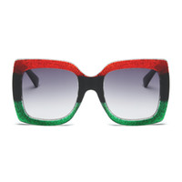 Wholesale large frame fashion glasses - STORY Sunglasses Luxury Brand Designer Oversized Tricolor Frame Green Red Sun Glasses For Women Large Sunglasses Sexy Ladies
