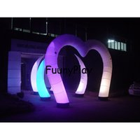 Wholesale inflatable field - Wholesale- inflatable wedding heart arch,inflatable arch with light,inflatable christmas decorations arch,inflatable archway for Red carpet