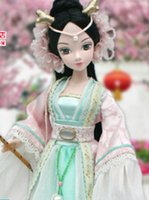 Wholesale China Dolls Clothes - Dragon myth can be child doll Chinese style Clothing joint body Barbie Girl toys 9059 for 30% off