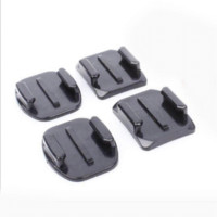 Wholesale Adhesive Mount For Gopro - 4x 3M Adhesive Pads Flat with Curved Helmet Mounts for GoPro Camera HD Go pro Hero4 hero4 Hero 4 3 +1 2 3