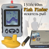 Wholesale Russian Meter - Russian Menu Wireless Sonar Portable Fish Finder Sensor Echo Sounder Alarm River Lake Sea Bed Live Update Contour 131ft 40M