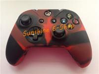 xbox one controller rubber skins venda por atacado-Atacado-2 PCS Camoflage borracha de silicone gel de proteção da pele caso capa para Xbox um console Gameboy Controller para Microsoft