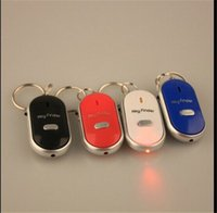 Vendita calda LED colorato Trova Finder Trova Trova chiavi perse Keychain catena Whistle Sound Control