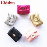Wholesale Childrens Bag Cute - Kidsbuy Small design Shoulder Bags for Childrens Kids PU Leather Lovely Purse Girls Cute Messenger Bag Toddlers Christmas gift bags KB088