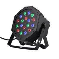 Wholesale 1w Head Light - Wholesale-18*1W Par LED RGB DMX 512 Dj Stage Lighting moving heads High power For Disco Party Nightclub