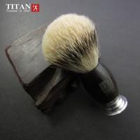 Wholesale Silvertip Badger Hair Shaving Brush - 100% Black Ebony Handle Titan Men Shaving Brush Silvertip Badger Brushes Pincel Badger Hair Knot Free Shipping