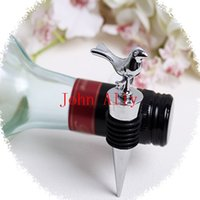 "Wholesale Wholesale Cute Wine Stoppers - Whloesale Fashion 3.54""""x 1.37"" Love Bird Wine Bottle Stopper Wedding Bomboniere Party Favors Cute Gift Table Decor"