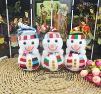 Wholesale Trumpet Santa Claus - Christmas decorations Christmas tree decorations snowman doll Santa Claus Christmas gift trumpet 15cm