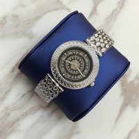 Wholesale Ladies Watches Big Dials - 2017 Hot sale Lady Brand Watch Big dial Luxury Women Watches Classic Quartz rose gold silver color Dress Watch Bracelet special style