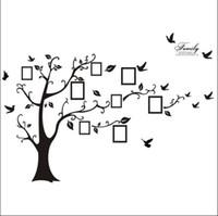 arte de pared de vinilo cita a la familia al por mayor-200 * 250CM Family Picture Photo Frame Tree Wall Quote Art Stickers Vinyl Decals Home Decor Beautiful Family