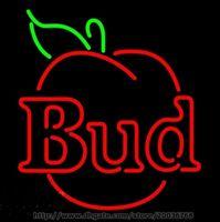 ingrosso neon luminoso di bud-Hot Commercial Custom Nuovo Blue Real Glass Neon Light Registrati Budweiser Bud Apple Neon Sign Bar Pub Disco KTV Club Motel 17