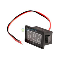 Wholesale Voltmeter Wires - Waterproof DC 2.5 to 30V Red LED Panel Meter DC Digital Voltmeter Two-wire S7NF