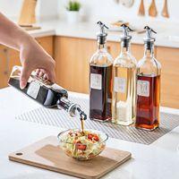 Wholesale Glass Cook - 250ml  500ml Clear Glass Olive Oil Vinegar Storage Bottles Kitchen Cooking Leak-proof Multi-purpose Seasoning Bottle Kitchen Accessories