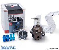 Wholesale Adjustable Pressure Regulator - TANSKY- Tomei Fuel Pressure Regulator with original Black gauge adjustable FPR Type L TK-TOMEI-BBK Have In Stock