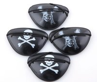 Wholesale Halloween Pirate Masks - 1000pcs 2015 new pirate eye patch Halloween costumes Pirates of the Caribbean a masquerade accessories Cyclops goggles free shipping DHL