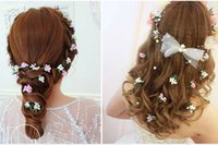 Wholesale Red Hair Bridal Pins - 2015 Lovely New Design Bridal Accessories Bridal Wedding Handmade Flowers Wedding Hair Jewelry Flower Headpieces Bridal