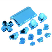 Wholesale Chrome Button - Cool Full Buttons Mod Set Chrome Blue For PS4 Controller Gamepad Joystick Video Game Play Accessories
