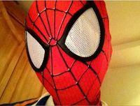 máscara de tecido preto venda por atacado-Moda o incrível spiderman tecido traje adulto lente máscara lentes com preto spiderman faceshell um tamanho se encaixa mais