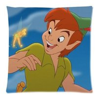 Wholesale Two Sided Pans - Neverland Peter Pan Throw Pillow Cushion Case Cover Two Sides Printed 18x18 Inches