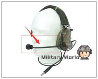 Wholesale Headset Microphone Ordering - 5pcs lot Z-Tactical Tactical Military Airsoft Army Microphone Headset Accessory Hunting for Comtac II Noise Reduction Headset order<$18no tr