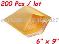 "Wholesale Padded Envelope Wholesale - Wholesale-200 Pcs Kraft Bubble Mailers Padded Envelopes Bags 6""X9"""