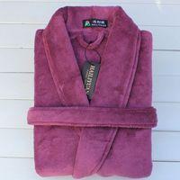 cheap soft purple couple fleece bathrobe thick quick dry adult bath towels bathrobe autumn winter wear