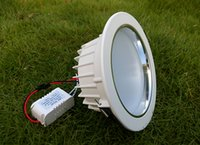 luz led empotrada en el techo regulable al por mayor-MOQ100 7W regulable 110V 220V No regulable 85-265V LED Downlights 5 pulgadas Techo abajo bombillas empotradas Lampada WW CW 2 años de garantía