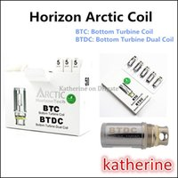 Wholesale Fast Bottoms - Horizon Arctic Coil Bottom Turbine Coil Bottom Turbine Dual Coil BTDC Dual Coils 0.2ohm 0.5ohm for Arctic Tank Fast Shipping