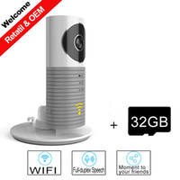 Wholesale Smart Dog Infrared - 2016 New Clever Dog Smart WIFI Camera with IR Cut Night Vision Support 32GB Micro SD TF card Wireless IP Surveillance Camera