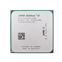 am2 prozessoren großhandel-AMD-CPU Athlon II X2 220-CPU-2,8-GHz-Sockel AM2 + / AM3 938PIN-Dual-Core-Prozessor mit 65-Watt-Prozessor