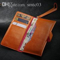Wholesale Wallet Wholesalers Site - Wholesale-Fashion cell phone handbag pocket for Apple iPhone 5s 5c 4s 4 3gs Soft Versatile wallet with 3 card holders and Bill Site