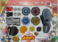 Wholesale Top Gifts For Christmas Kids - 1set New Metal Beyblade toy for children Spinning Tops Toys With Four Beyblade kids best birthday Christmas gift XX1122