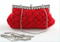 Wholesale Cheapest Women Hand Bags - Cheapest Only 19.99 Many Colors Bridal Hand Bags Women Lady Cluthch Wedding Bride Purse Bag With Chains In Stock QM