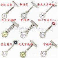 Wholesale Hanging Jewelry Dress - Nurse Pendant Brooch Hanging Pocket Luminous Dial Pocket Watch Quartz Chain Cross Fashion Jewelry Gift