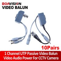 Wholesale Wholesale Audio Video Balun - CCTV CAT5 RJ45 Balun Video Audio Power for camera 10Pairs