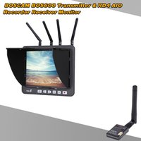 Trasmettitore Wireless BOSCAM BOS600 5.8G 32CH 600mW + RD4 5.8G 32CH TFT 4 RX All-in-one registratore ricevitore FPV Monitor ordine $ 18no pista