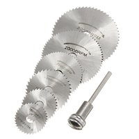 Wholesale Circular Saw Blades Wholesale - 2015 6 Pack Mandrel HSS High Speed Circular Saw Blades Cutting Discs Set for Drill Mandrel Cutoff Cutter Power tools multitool order<$18no t